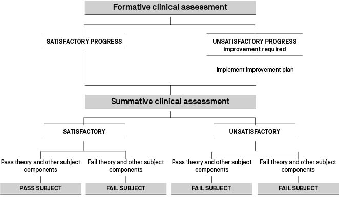Clinical assessment diagram